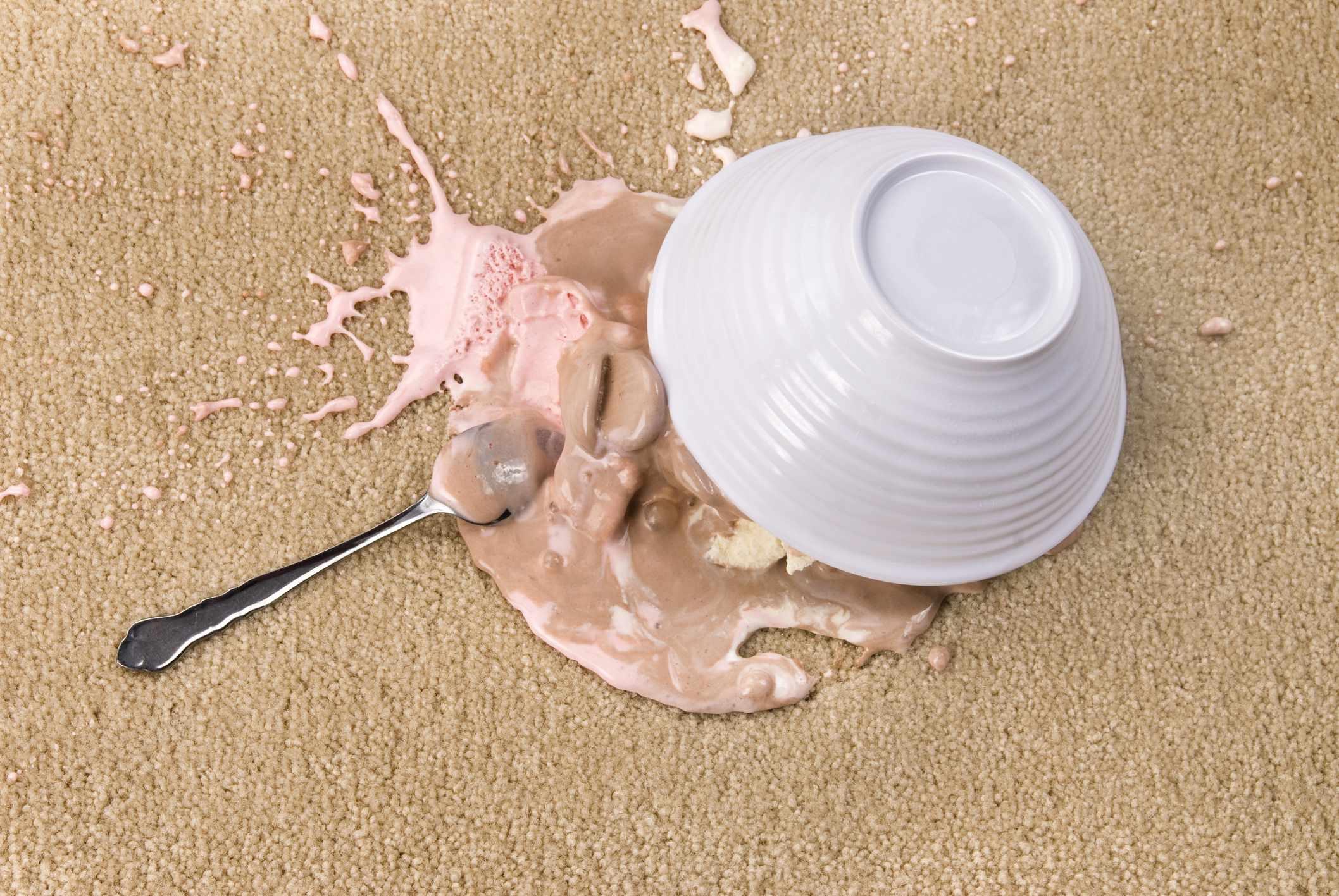 Quitar las machas de helado